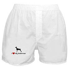 I Love My Doberman Boxer Shorts