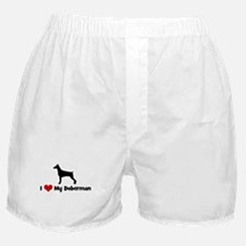 I Love My Doberman Boxer Shorts