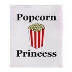 Popcorn Princess Throw Blanket