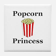 Popcorn Princess Tile Coaster
