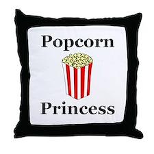 Popcorn Princess Throw Pillow