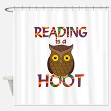 Reading is a Hoot Shower Curtain