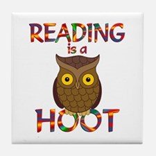 Reading is a Hoot Tile Coaster