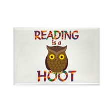 Reading is a Hoot Rectangle Magnet
