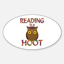 Reading is a Hoot Decal
