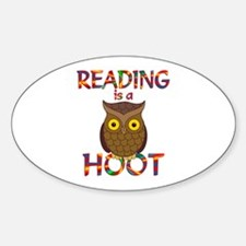 Reading is a Hoot Sticker (Oval)