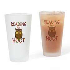 Reading is a Hoot Drinking Glass