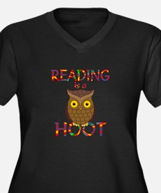 Reading is a Women's Plus Size V-Neck Dark T-Shirt