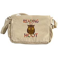 Reading is a Hoot Messenger Bag