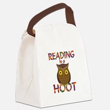 Reading is a Hoot Canvas Lunch Bag