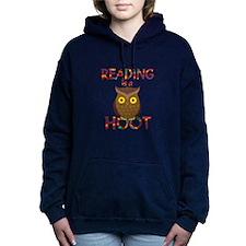 Reading is a Hoot Women's Hooded Sweatshirt