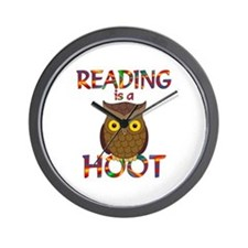 Reading is a Hoot Wall Clock