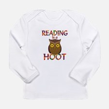 Reading is a Hoot Long Sleeve Infant T-Shirt