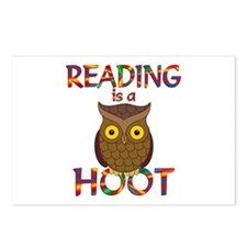 Reading is a Hoot Postcards (Package of 8)
