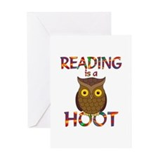 Reading is a Hoot Greeting Card