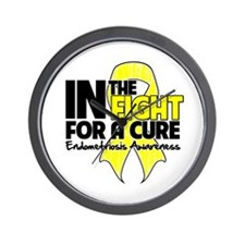 Cure Endometriosis Wall Clock