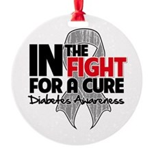 Cure Diabetes Round Ornament