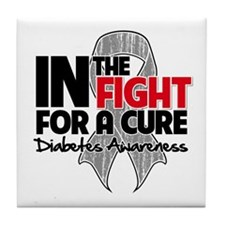 Cure Diabetes Tile Coaster