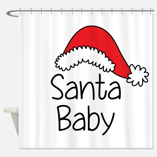 Santa Baby Shower Curtain