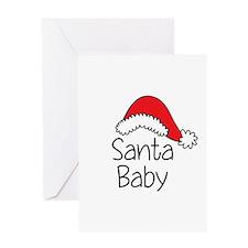 Santa Baby Greeting Cards