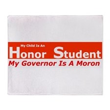 Governor Moron Throw Blanket