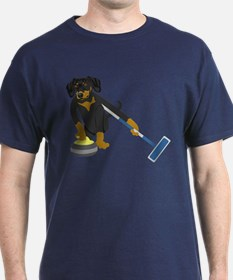 Dachshund Curling T-Shirt