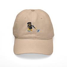 Dachshund Curling Baseball Cap