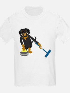Dachshund Curling T-Shirt