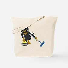 Dachshund Curling Tote Bag