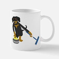 Dachshund Curling Mug
