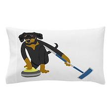 Dachshund Curling Pillow Case