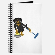 Dachshund Curling Journal