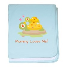 Cute Turtle Mommy and Child baby blanket