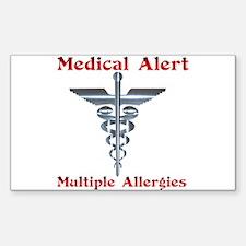 Multiple Allergies Medical Alert Decal