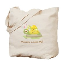 Cute Turtle Mommy and Child Tote Bag