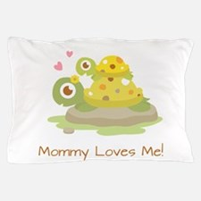 Cute Turtle Mommy and Child Pillow Case