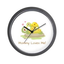 Cute Turtle Mommy and Child Wall Clock