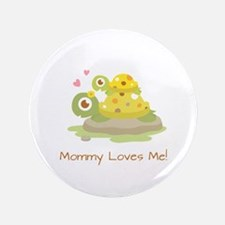 "Cute Turtle Mommy and Child 3.5"" Button"