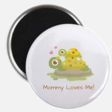 Cute Turtle Mommy and Child Magnets