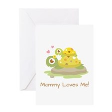 Cute Turtle Mommy and Child Greeting Cards