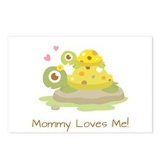 Cute Turtle Mommy and Child Postcards (Package of