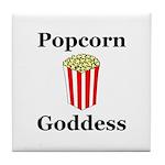 Popcorn Goddess Tile Coaster