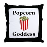Popcorn Goddess Throw Pillow