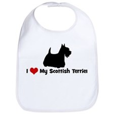 I Love My Scottish Terrier Bib
