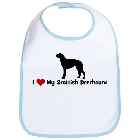 I Love My Scottish Deerhound Bib