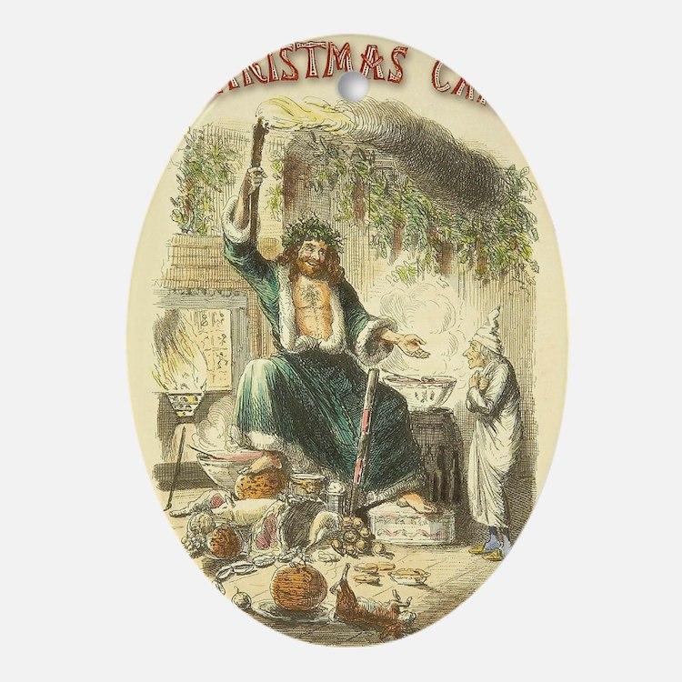 Vintage Scrooge Ghost of Christmas Present Ornamen