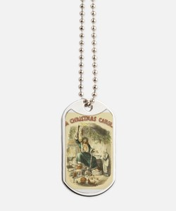 Vintage Scrooge Ghost of Christmas Present Dog Tag