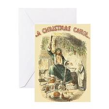 Vintage Scrooge Ghost of Christmas Present Greetin