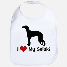 I Love My Saluki Bib