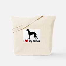 I Love My Saluki Tote Bag